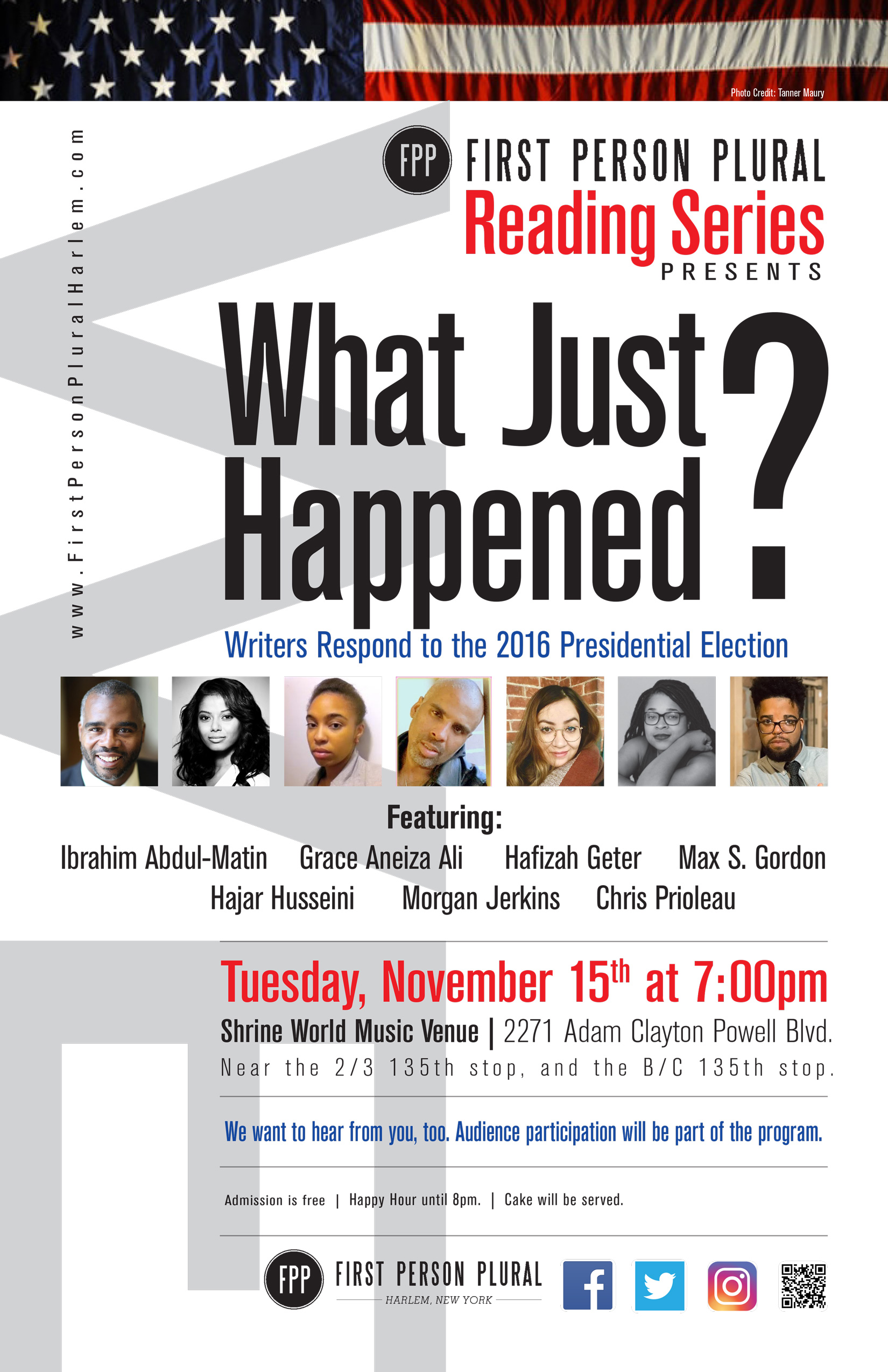 Harlem | First Person Plural Reading Series | Page 2