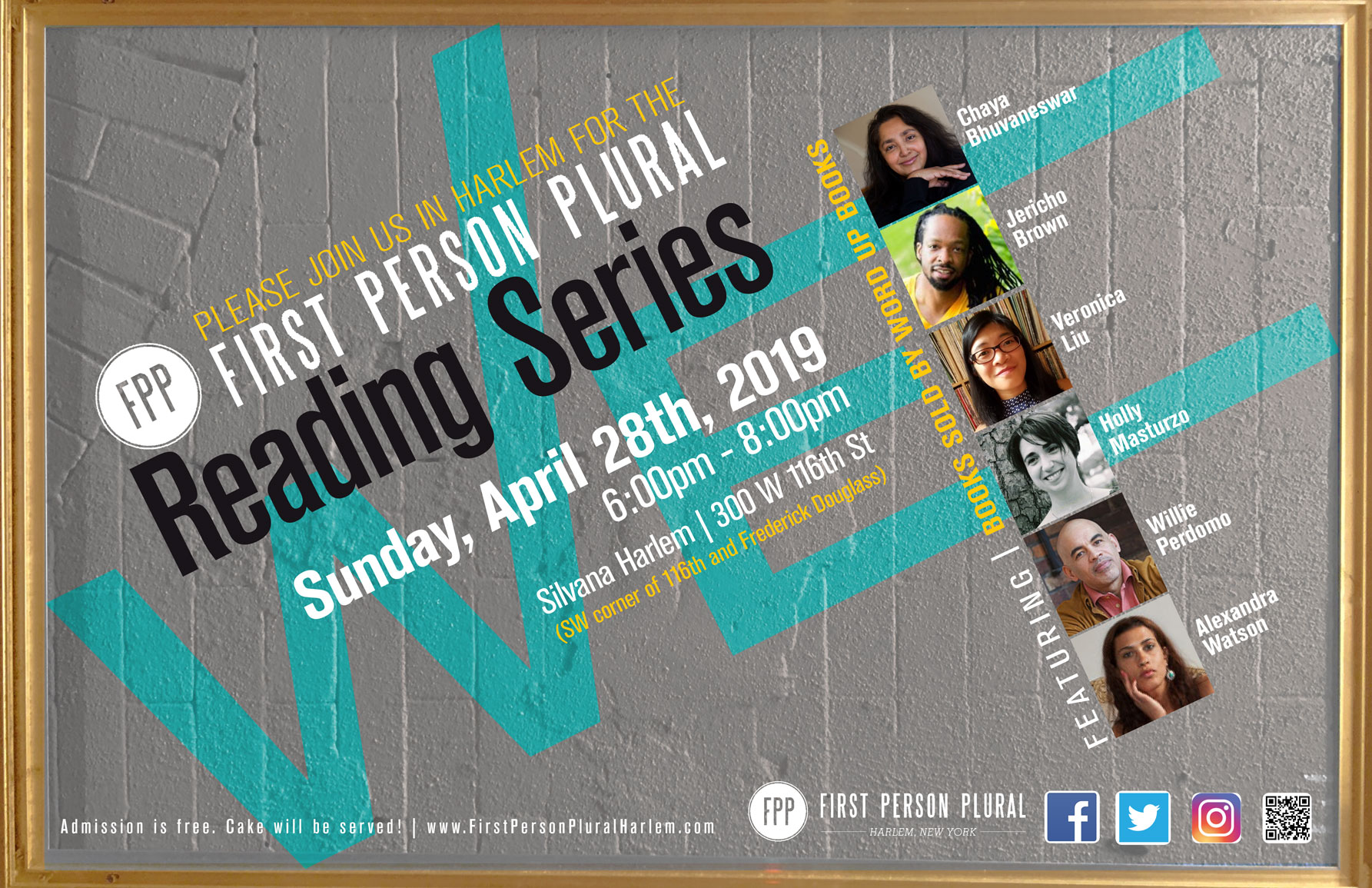 First Person Plural Reading Series | Literary and Arts Events in Harlem
